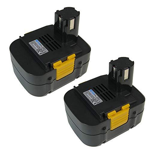 2x TradeShop Premium Werkzeug Ni-MH Akku 15,6V 3300mAh für Panasonic EY3531FQWKW EY6431 EYC132 EYC132NQKW EYC133 EYC133NQKW EYC135NQKW EYC136NQKW ersetzt EY9230B EY9231 EY9231B EY9136B EY9136 EZ9136