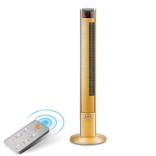 ZZHDDP Goldmode-kreativer Turm-Fan / stilles blattloses lärmarmes elektrisches Gebläse / stehendes Haushalts-Büro-praktischer Turm-Fan 30 * 110 cm