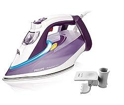 Philips GC4928/30 Bügeleisen PerfectCare Azur, OptimalTEMP (Premium Bügelsohle, Abschaltautomatik, 3000 Watt, 210g Dampfstoß) violett / weiß