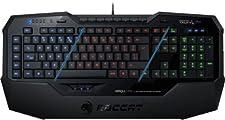 Roccat Isku FX Multicolor Gaming Clavier (FR-Layout, Touches Rétro-Éclairées Multicolores, 36 Touches Macro, Trois Touches de Pouce) Noir