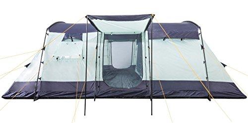 CampFeuer - 6 Personen Familienzelt, riesiger Vorraum, 5000 mm Wassersäule, Campingzelt, (+ 6 weitere Personen im Vorraum möglich) - 5
