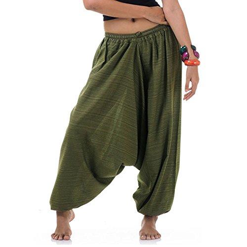 emshose Aladinhose Pumphose Hippie Hose für Damen & Herren 36 38 40 42 Grün (Kostüme Von Indien)