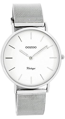 Oozoo Damen Digital Quarz Uhr mit Edelstahl Armband C7728
