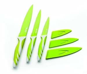 Ibili 727615 Couteau de cuisine antiadhésive acier inoxydable Vert 15 cm