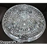 Skyzone Clear Hyaline Fruit Candy Plate Acrylic Candy Tray Round Imitated Crystal Tray Domestic Snack Dishes