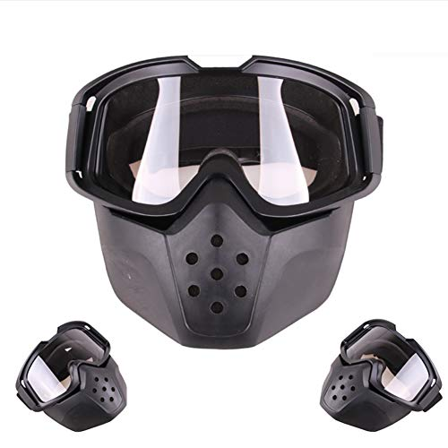 Denret3rgu Anti-Fog-Brille Maske Sonnenbrille Helm Outdoor Motocross Schneemobil Winddicht Transparent