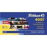 Pelikan 50 x Tintenpatrone 4001 Großraum GTP/5 königsblau mit Motiv VE=5 Stück