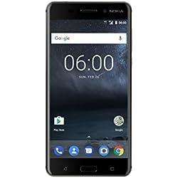 Nokia 6 - Dual SIM - Smartphone Débloqué 4G LTE (Ecran : 5,5 pouces IPS Full HD - format 16:9 - 3Go RAM - 32Go stockage + extension SD 128Go - Android)