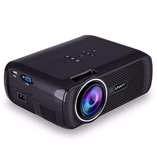 JYL Projektor 1080P Full HD und 170 '' Display unterstützt, 1500 Lumen Videoprojektor kompatibel mit USB-, SD-, HDMI-, VGA-, AV- und TV-Eingangsschnittstellen, Heimkino-Projektor,A 37 In 1080p Lcd Tv