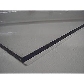 A+H Kunststoffplatte PET ähnlich Plexiglas, 2000x1000x1mm mit beidseitiger Schutzfolie