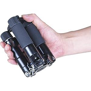 Rollei-Compact-Traveler-Mini-M-1-Kompaktes-Mini-Stativ-aus-Aluminium-mit-geringem-Packma-und-Einem-Gewicht-von-780g-ARCA-Swiss-kompatibel-inkl-Kugelkopf-und-Stativtasche-Orange
