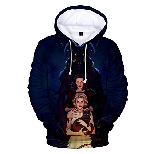Lonimor Unisex Frau Männer Tops 3D Druck Hoodie Drawstring Taschen Long Sleeve Sweatshirt Jumper Chilling Adventures of Sabrina -