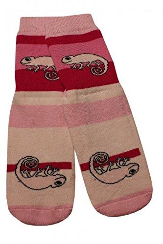 Weri Spezials Baby Voll-ABS Socke Chamealeon Motiv in Rose Gr.17-18 (6-9 Monate)