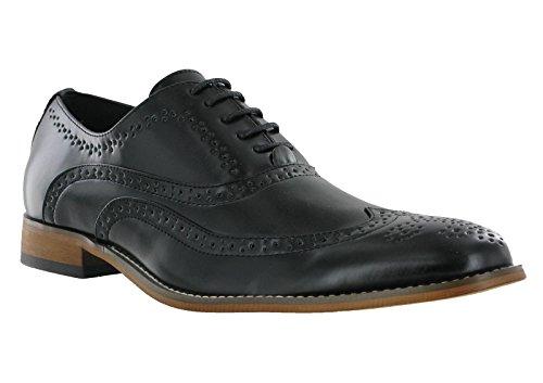 Goor Hommes Brogue Formelle Oxford Dentelle Soirée Mariage Smart Chaussures Décontractées Noir