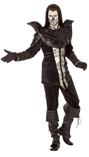 Karneval-Klamotten Vampir Kostüm Herren Luxus Lord GRAF Raven Halloween-Kostüm Gothic Herren-Kostüm Größe ()