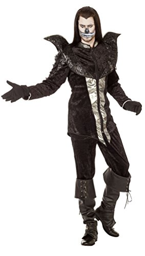 Karneval-Klamotten Vampir Kostüm Herren Luxus Lord GRAF Raven Halloween-Kostüm Gothic Herren-Kostüm Größe - Gothic Graf Kostüm