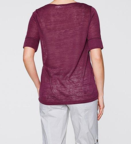 Damen Viskose-Leinen Jersey Shirt, 128275 in Mandarinenrot siehe Beschreibung