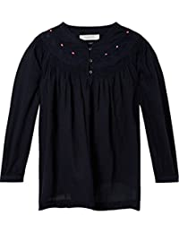 Scotch & Soda Woven Top with Subtle Embroidery, Camiseta sin Mangas para Mujer
