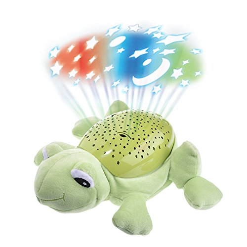 Pueri LED Sternenhimmel-Projektor Leucht Plüsch Spielzeug Nachtlicht Lampe Einschlafhilfe für Baby Kinder (E)