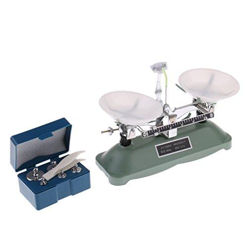 MagiDeal 100 / 200 / 500 Gramm Präzise Schulwaage Balancewaage mit Gewichten Set - 200 Gramm -