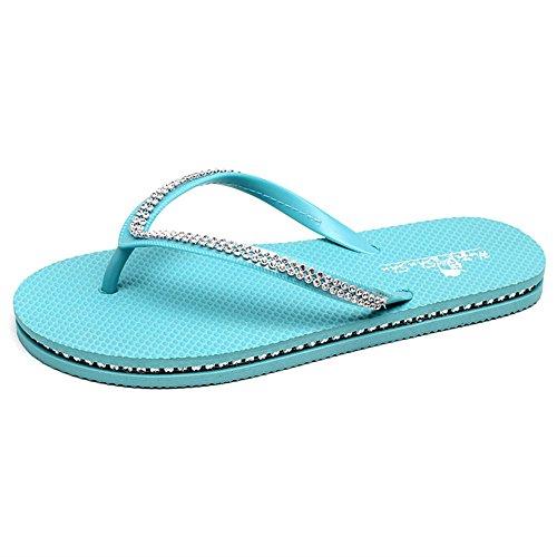Estate Sandali Sandali pantofole piane Sandali impermeabili (Rosa / Nero / Blu / Marrone) Colore / formato facoltativo Marrone