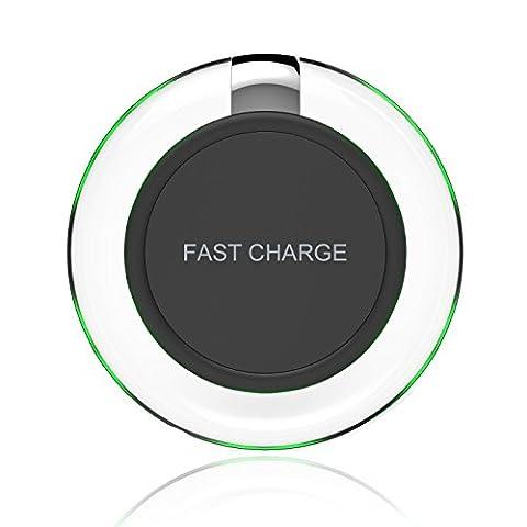 Chargeur à Induction, YOOTECH Chargeur Pad sans fil Chargeur sans Fil pour Samsung galaxy S8/S8 Plus/S8+, S7/S7 Edge, S6/S6 Edge, Note 5, Google nexus 4/5/6 and All Qi Devices [Breathing