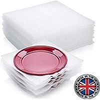 """75 unidades de suministros de embalaje de espuma de cojín envolviendo de forma segura para proteger los platos, vasos de china, platos frágiles para cajas de mudanza 12"""" x 12"""""""