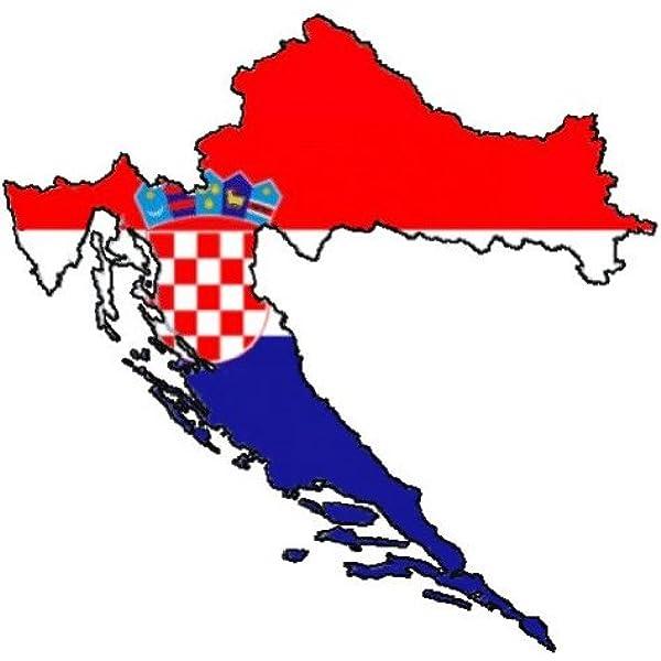 Auto Aufkleber Car Sticker Hrvatska Kroatien Croatia Konturgeschnitten Ca 11 Cm Auto