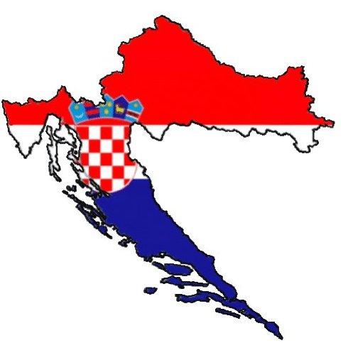 "Auto Aufkleber, Car Sticker ""HRVATSKA"" Kroatien, Croatia. Konturgeschnitten. (ca. 11 cm)"