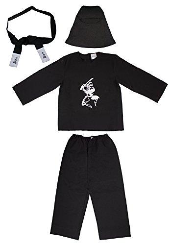 Ninja Das Kind Weiße Kostüm - Das Kostümland Ninja Samurai Kostüm für Kinder Gr. 116