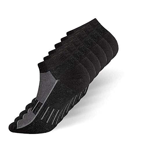 your+ Damen und Herren Sportsocken - Funktions-Socken - Antibakteriell optimales Fußklima (6 Paar) (schwarz, 35-38)