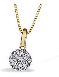 Goldmaid Damen-Halskette 585 Gelbgold 21 Diamanten 0,25ct Kettenanhänger Brillanten Schmuck Diamantkette