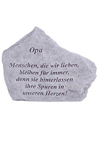 """Gedenkstein \""""Opa...\"""" aus Steinguss 18 x 14 cm Grabschmuck"""