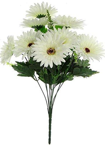 Fourwalls Gerbera Bunch (10 Flowers, White)