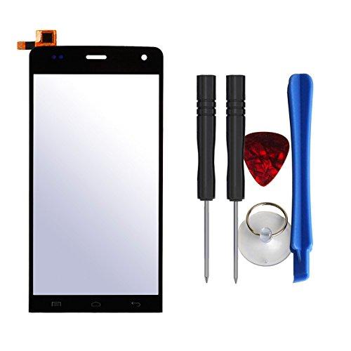 Frontglas Display Touchscreen Ersatzglas mit Digitizer für Wiko Getaway (5 Zoll) Schwarz