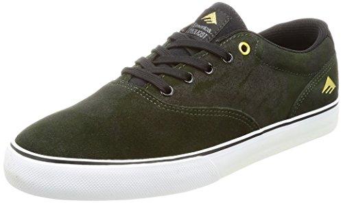 Emerica Provost Slim Vulc X Macchina Giocattolo, Herren Skateboardschuhe Verde / Nero / Bianco