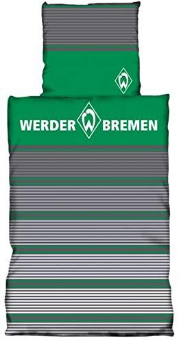 Preisvergleich Produktbild SV Werder Bremen Biber Bettwäsche Streifen,  Elle