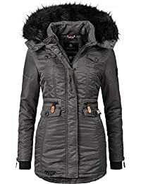 Navahoo Damen Winter-Jacke Winter-Mantel Steppmantel Schätzchen (Vegan Hergestellt) 8 Farben XS-XXL