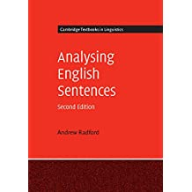 Analysing English Sentences (Cambridge Textbooks in Linguistics) (English Edition)