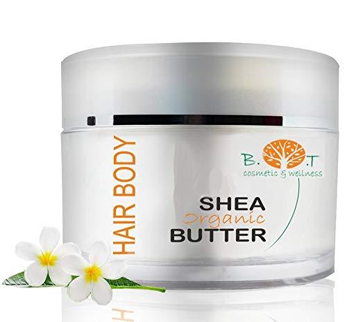Karitébaum Shea Butter -200 ml - 100% Rein Und Natürlich Karitébutter - Feuchtigkeitspflege mit Sonnenschutz SPF 6 -