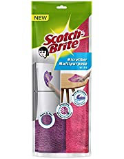 Scotch-Brite Microfiber Multipurpose Wipe (Pink and Purple, Pack of 2)