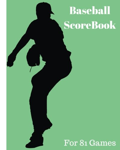 Baseball ScoreBook: 81 games, 8in x 10in, Included most popular stats, Pitching Jiugingge: Volume 5 por Mike Murphy