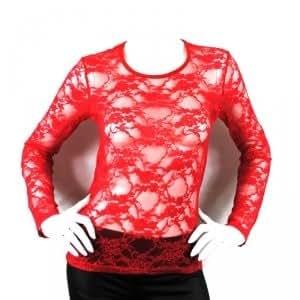 Sous-pulls Rouge à dentelle pour femmes