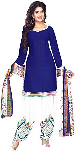 Great Indian Sale dresses for women party wear Clothing Cotton Fabric Salwar Suit Dress Material With Dupatta ( RD19 , Blue , Free Size )