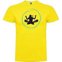 Camiseta Buceo Diver Zen Manga Corta Hombre Amarillo S