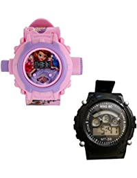 Shanti Enterprises Combo Sofia 24 Images Projector Watch And Sports Watch Multi Color Dial For Kids - B07572Z5QG