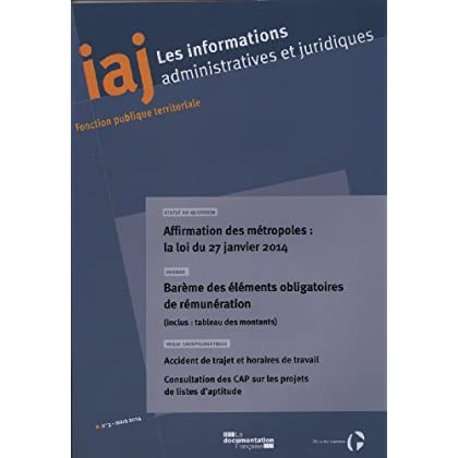 Barème des éléments obligatoires de rémunération (Informations administratives et juridiques n°03-2014)