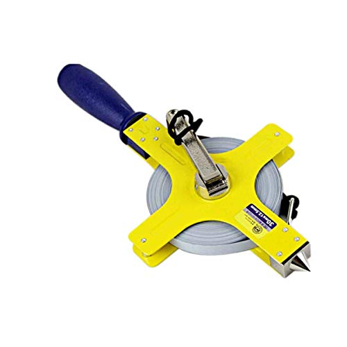 KEHUITONG Kunststoffgriff Kreuztyp Langes Maßband Stahl Maßband Eisen Shell Lineal Qualität, bestes Geschenk (Size : 30M) -