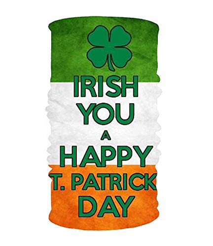 VTXINS Irish You 16-in-1 Magic Scarf,Face Mask,Balaclava Bandana for Outdoor Sports 10 * 20inchs