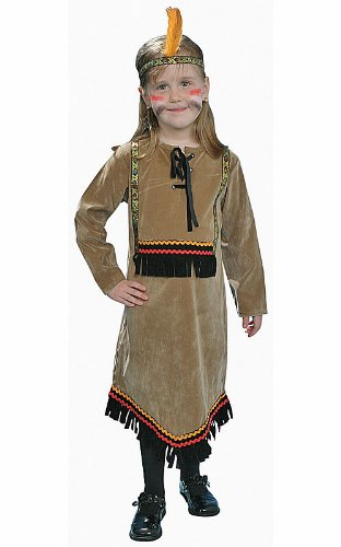 Dress Up America 209-T Deluxe Indian Girl Kinder Kostüm Set, X-Small (Amazon Indian Girl Kostüm)